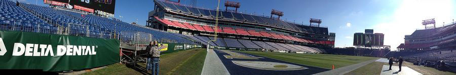 2014 Franklin Mortgage Music City Bowl Pre-game, before the crowds