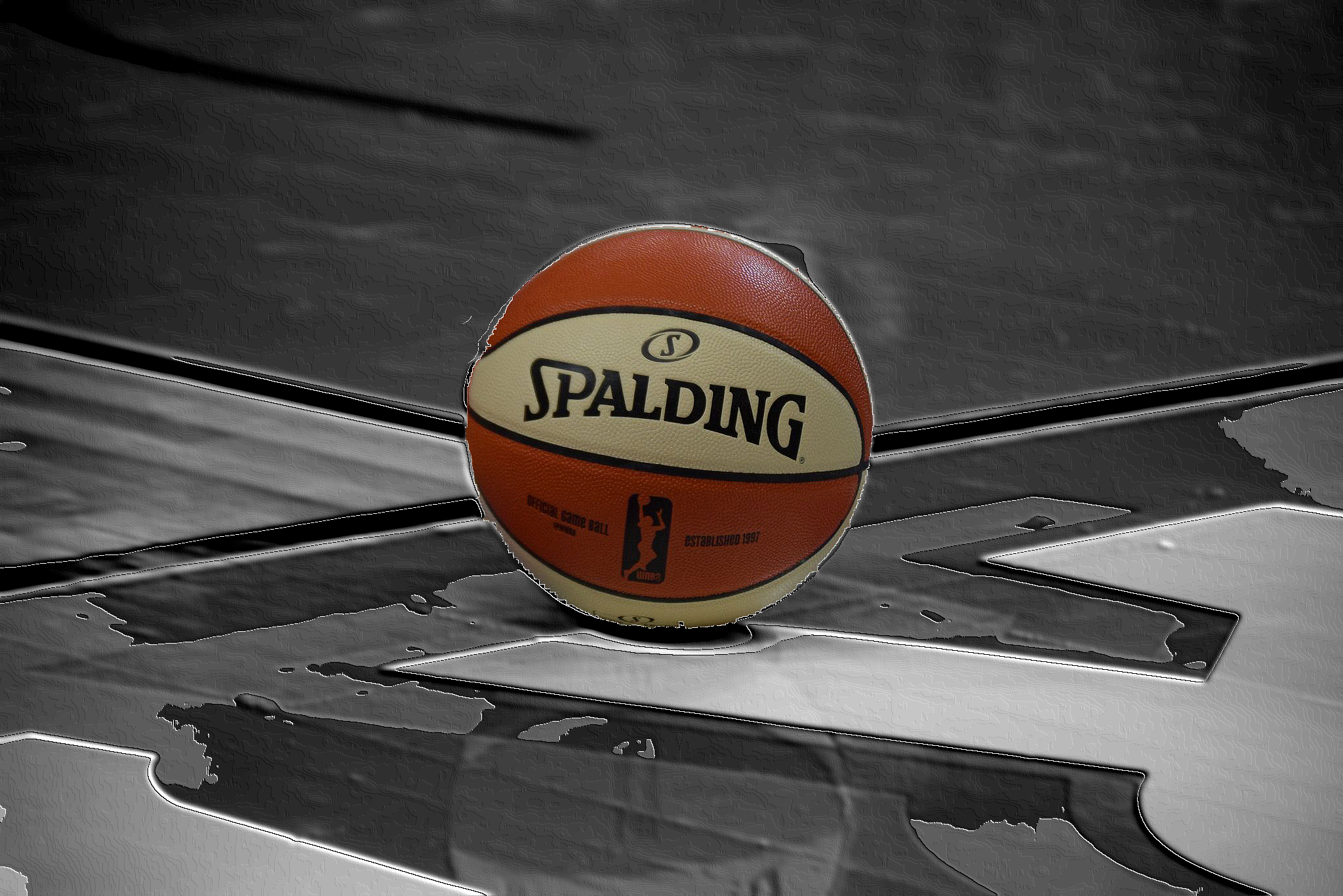 WNBA's Spaulding game ball – a photo edit
