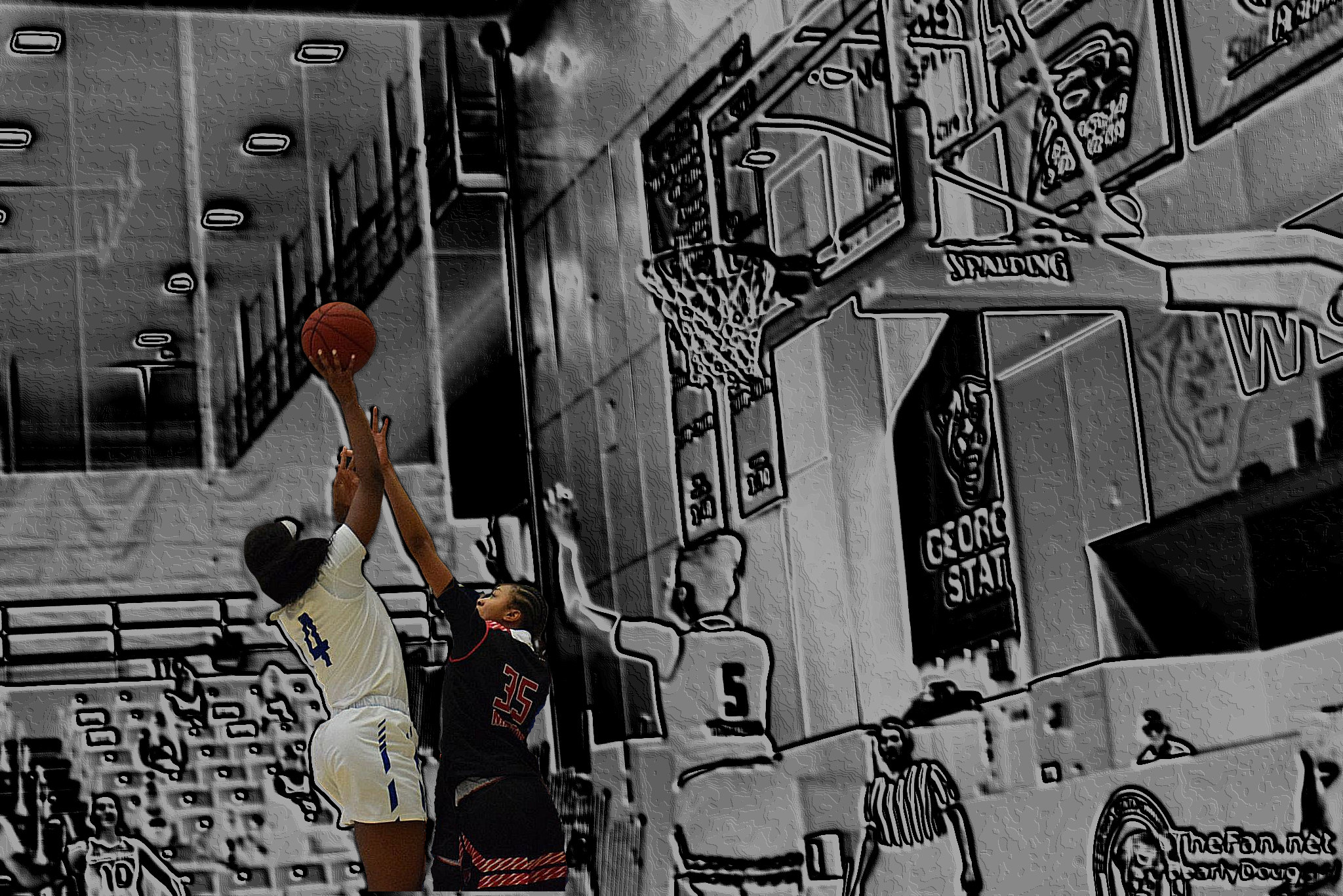 GSU's Joelle Johnson & ASU's Peyton Martin Photo Edit